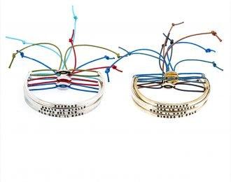 Bracciale semicerchio con cordino personalizzato